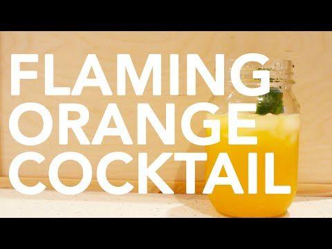 Flaming Orange Gin Cocktail || Gastrofork.ca - YouTube