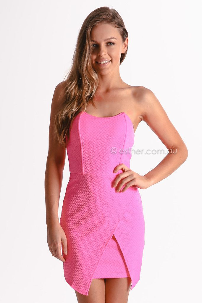 riley cocktail - neon pink | Esther clothing Australia and America ...