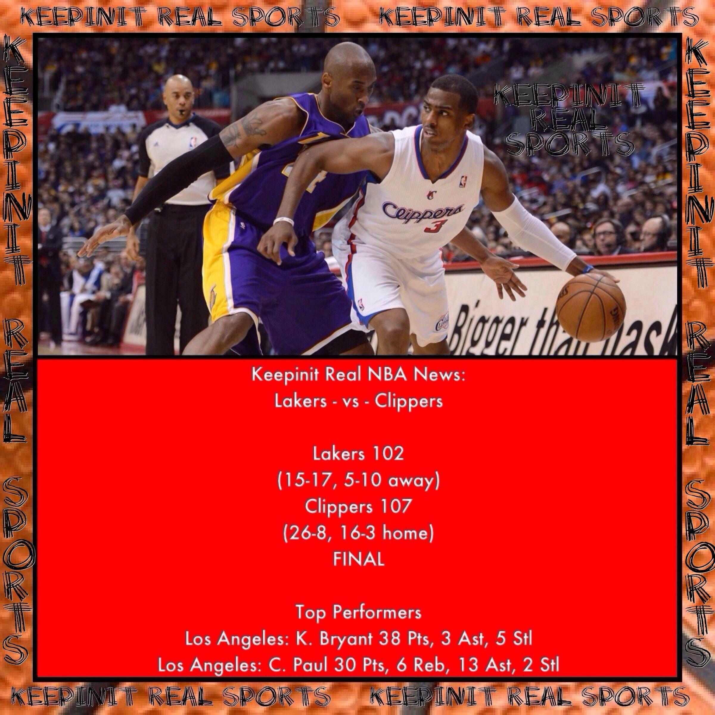 Keepinit Real NBA News Lakers vs Clippers Lakers 102