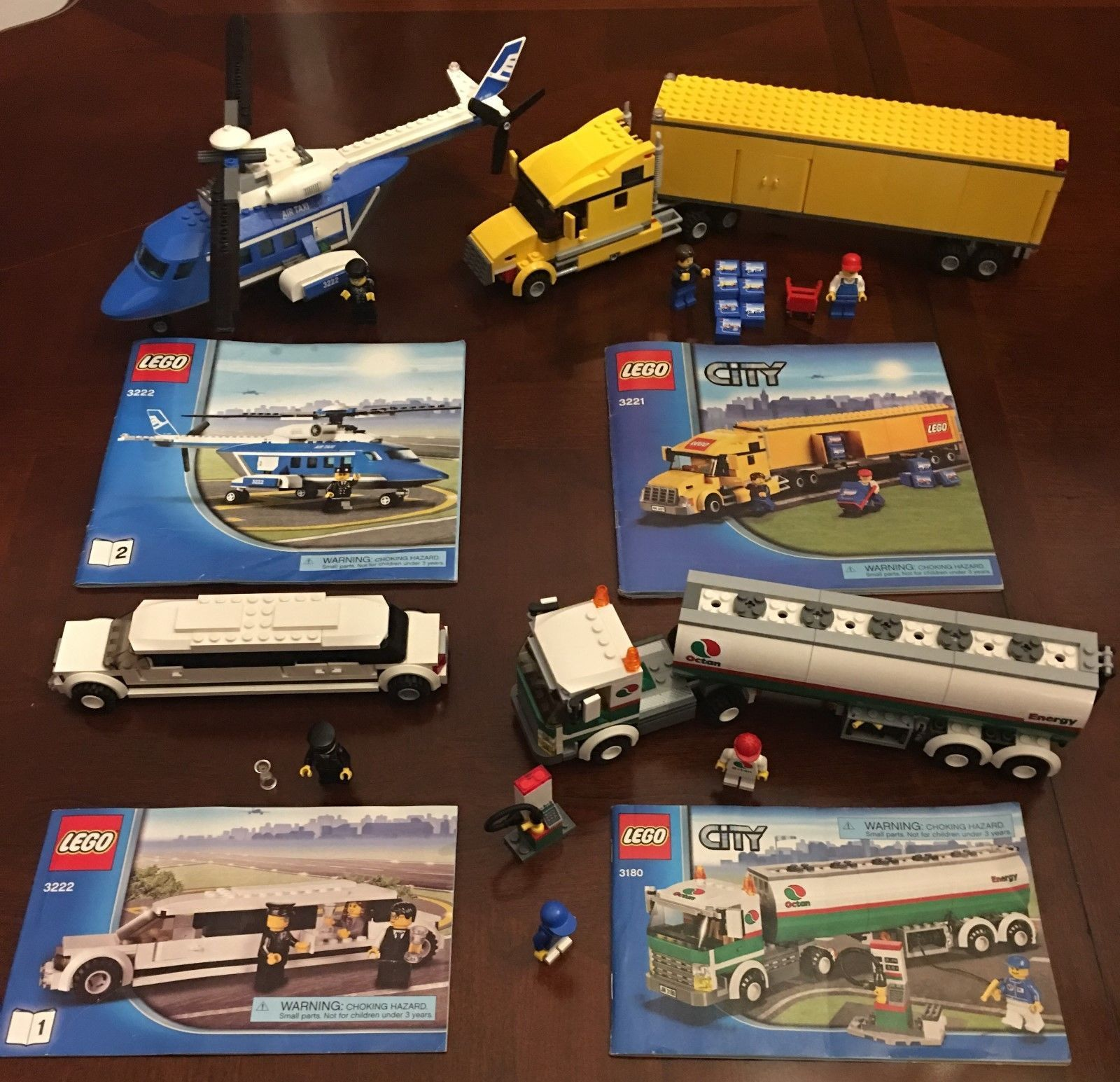 Four Retired Lego City Vehicle Lot With Instructions Sets 3180
