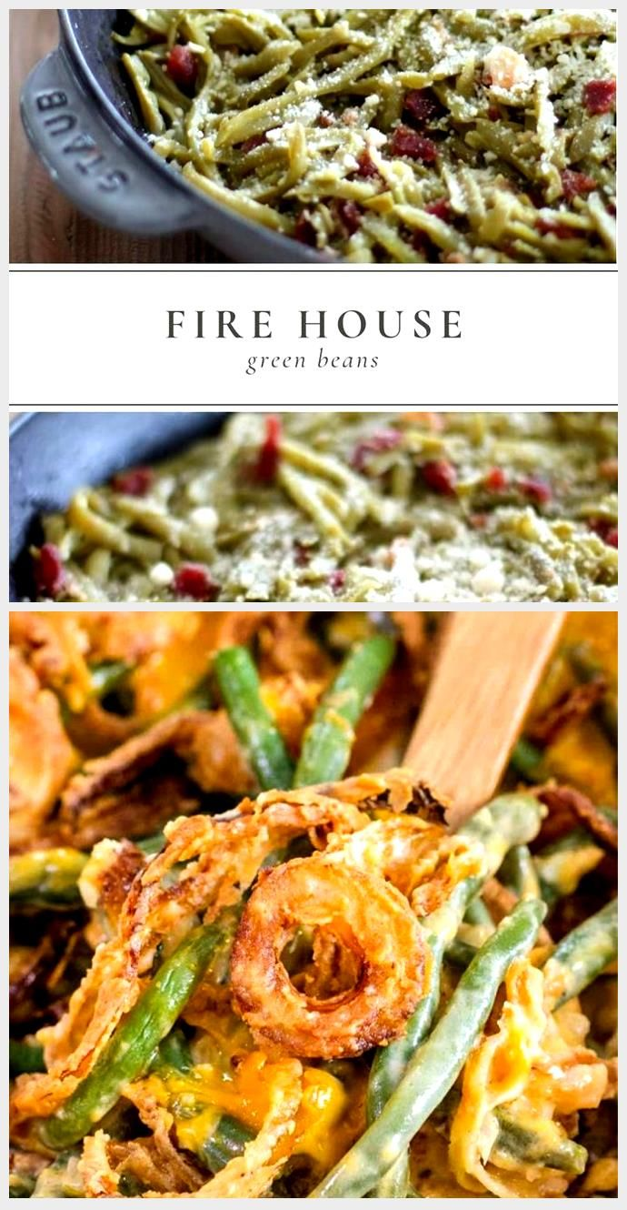 Step aside green bean casserole, Firehouse Green Beans with Bacon are an easy, l...