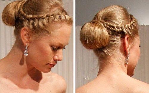La tresse Le chignon Les cheveux détachés coiffures de mariée tendance femme cheveux coiffure hair hairstyle bride robe blanche mariage préparatif 2012