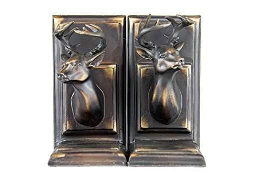 Amazon.com: Oh! Trendy Vintage, Decorative Male Deer Bust; Bookends/