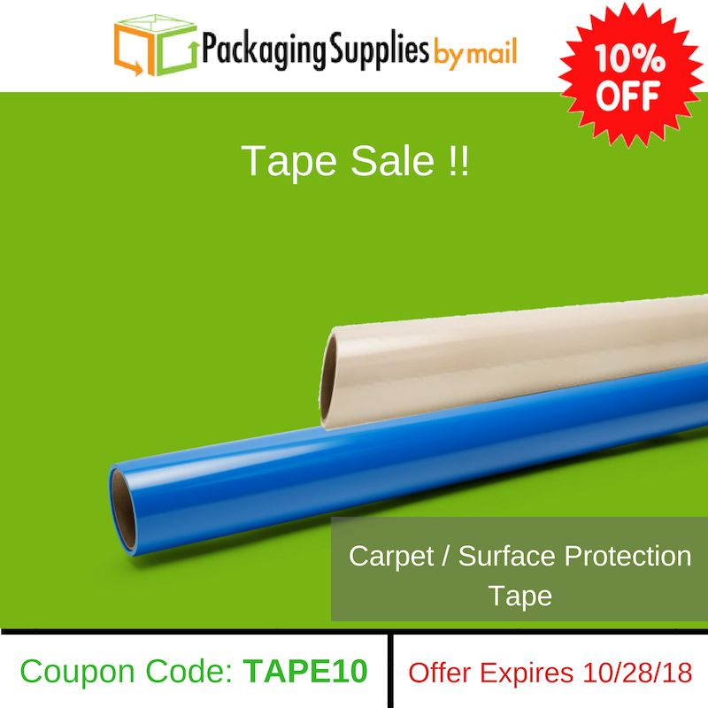 Carpet protection surface tape clear packing tape