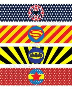 Super Hero Water Bottle Wrappers DIY WBW-031