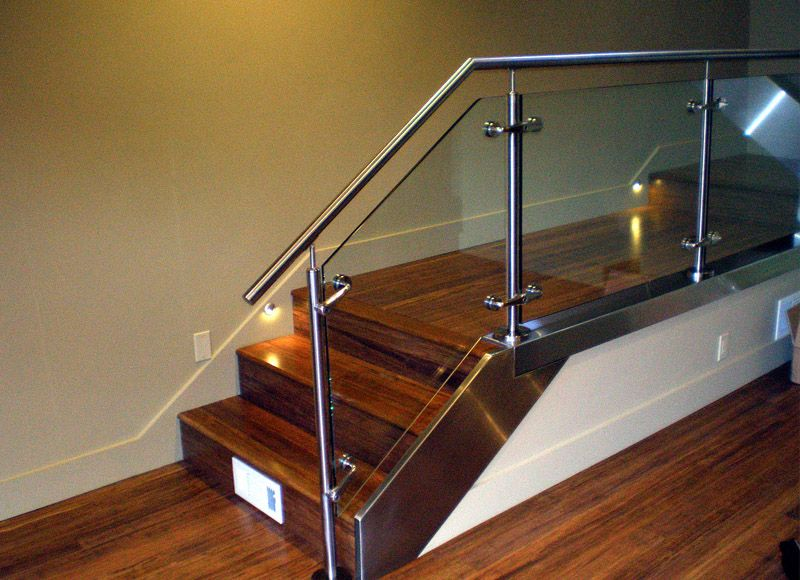 Manufacturer Of Stainless Steel Toughened Glass Staircase Railings, SS  Toughened Glass Staircase Railings In Delhi