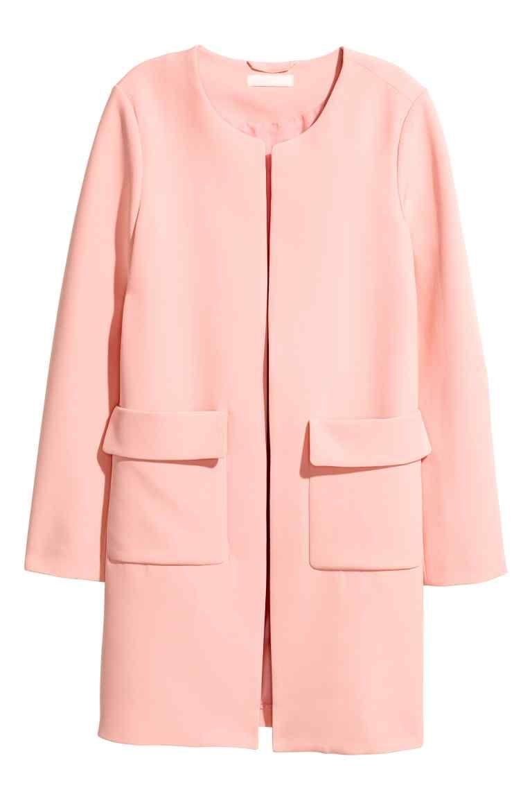 Manteau court femme rose