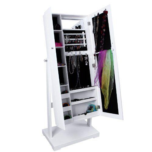 Songmics armadio portagioie gioielli da con specchio 149cm for Armadio amazon