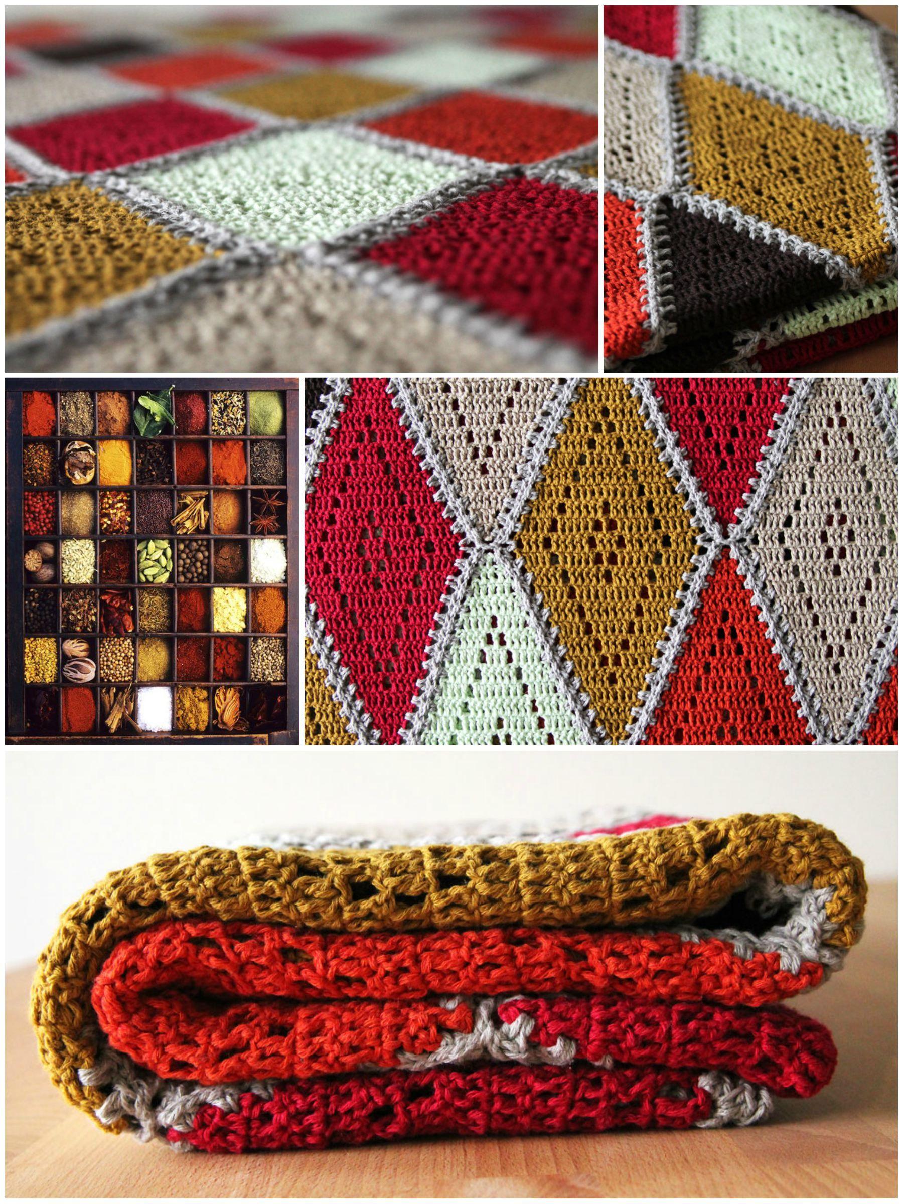 Crochet Spicy Diamond Blanket In Linen Soft Crochet Pinterest