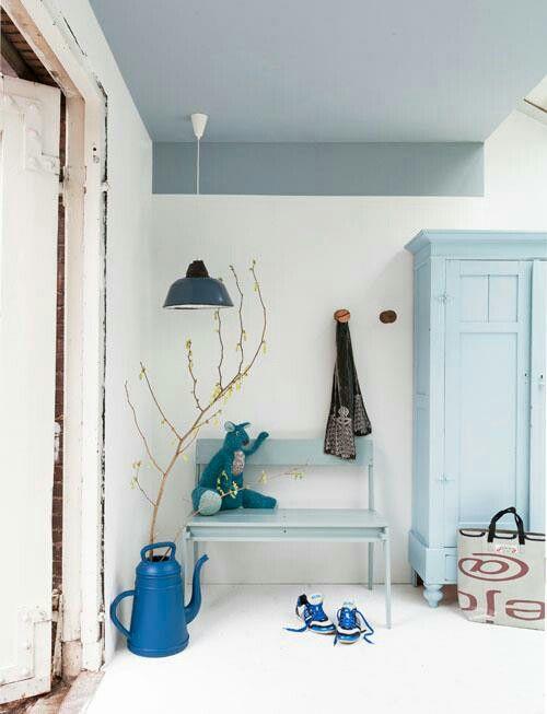 Fris je huis op met ton sur ton blauw.