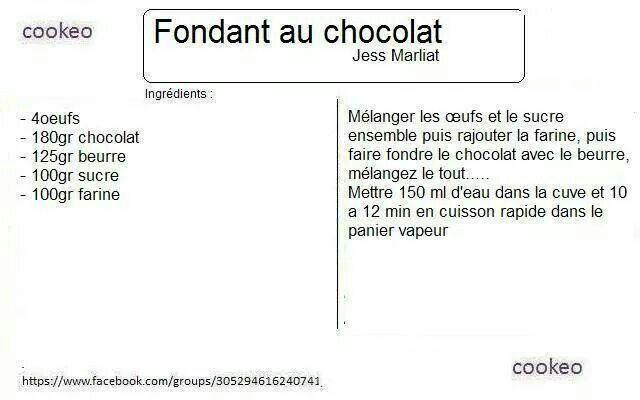 Recette gateau chocolat banane cookeo