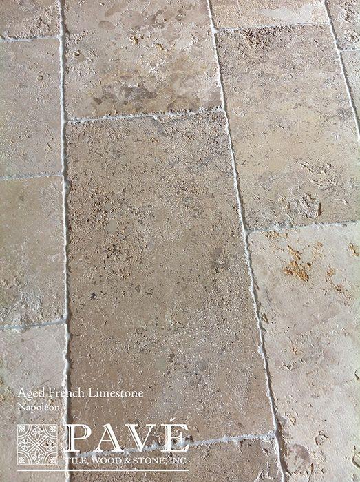 Photo of Antiqued French Limestone Flooring and Belgian Bluestone Flooring
