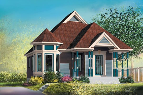 Victorian House Plan chp-31942 at COOLhouseplans.com