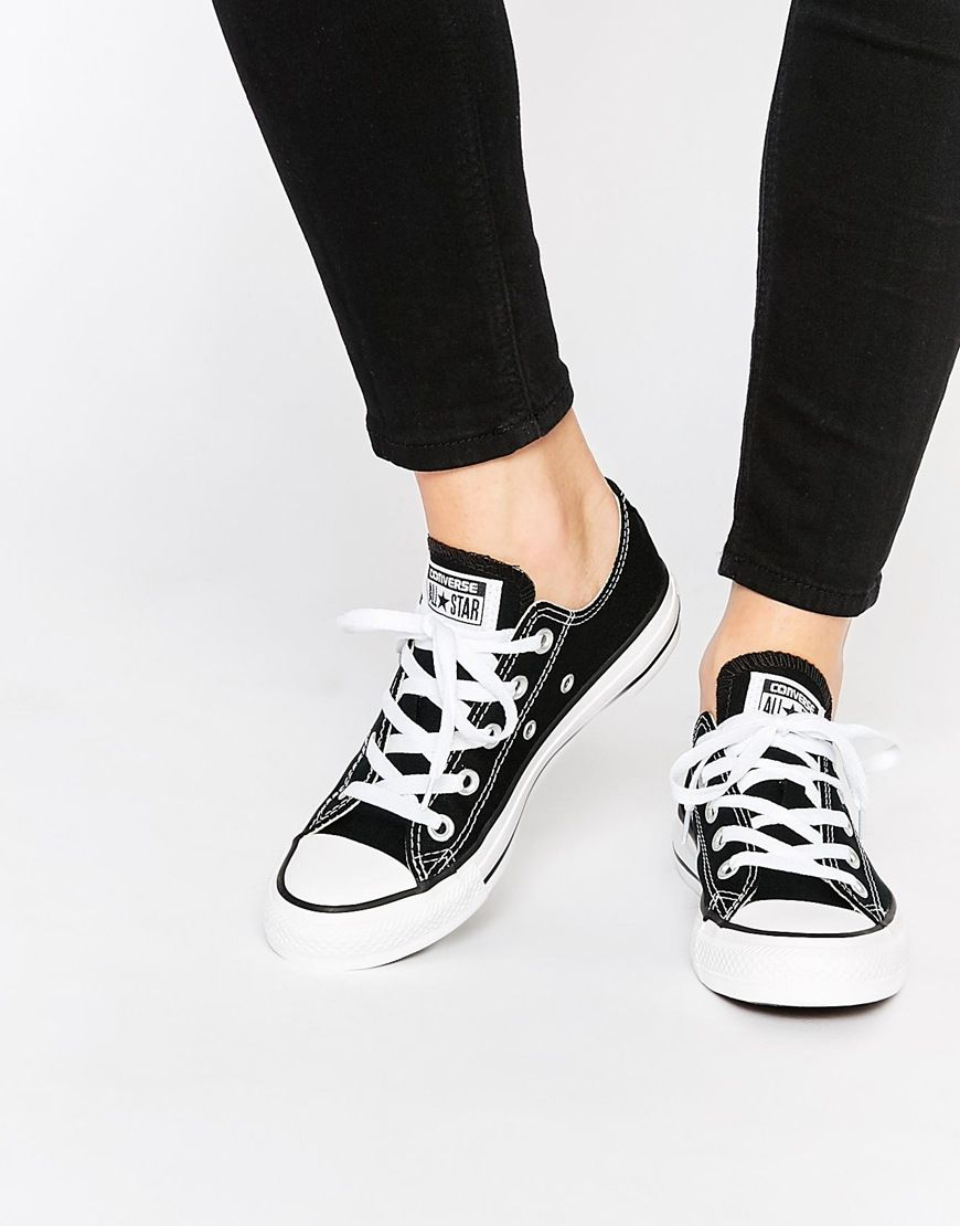 Converse - Chuck Taylor All Star Ox - Baskets - Noir at asos.com