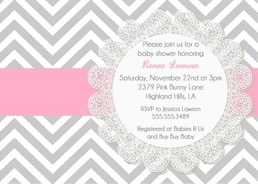 Gray and pink chevron lace baby shower birthday or bridal shower printable gray and pink chevron lace baby shower by notableaffairs 1200 filmwisefo