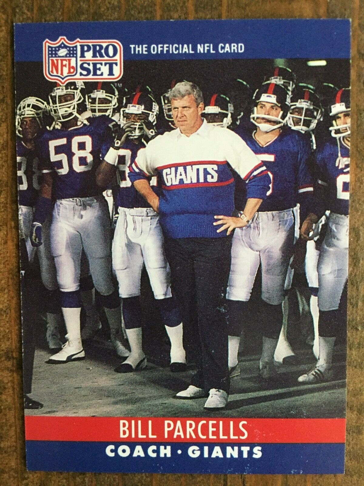 1990 Pro Set 232 Bill Parcells New York Giants Hall Of Fame Head Coach Nm Ebay In 2020 New York Giants Bill Parcells Vintage Football