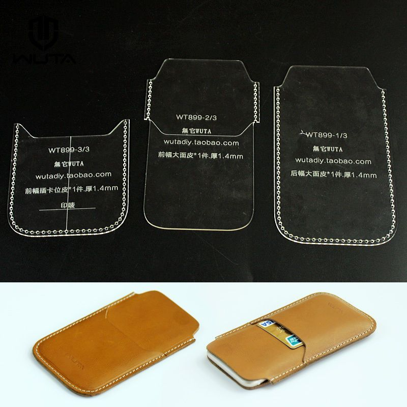 899 Phone Case Acrylic Template Leathercraft Pattern Fr Iphone 6 W Card Holder Leather Wallet Pattern Leather Pattern Diy Leather Craft Patterns