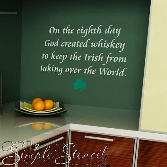 Pin On Irish Blessings Proverbs Wall Decals Stencils