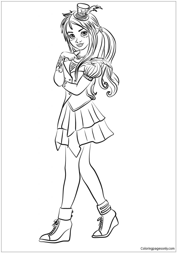 Freddie Coloring Page Http Coloringpagesonly Com Pages Freddie Descendants Coloring Pages Coloring Pages To Print Cartoon Coloring Pages