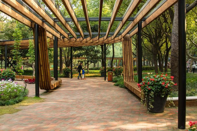 Donghu Park | Shanghai China | DLC #china #shanghai #landscapearchitecture #design #park #urbanpark #pergola #walkway #pavilion #wisteria ...of wood or vinyl and can be used in a garden of any size. A cedar arbor is the most popular type because of the durability of the natural resource. A ...ut what makes the most sense for their garden and how much room is available.Landscaping structures are great to use at the end or beginning of a path #inspire.gogreenhomeliving.com #landscape-pergola-walkw