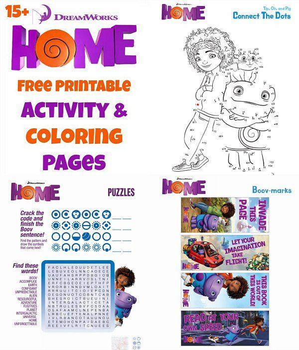 Dreamworks Home Activity Pages | Fiesta niños, Gaby y Cumple