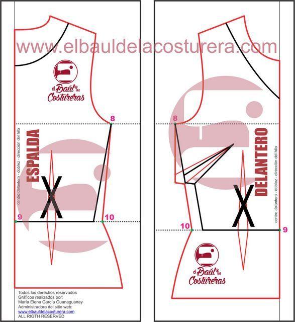 Como hacer patrón de costura para vestido de moda estilo patinadora ...