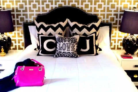 #jonathan adler #bedroom #chevron