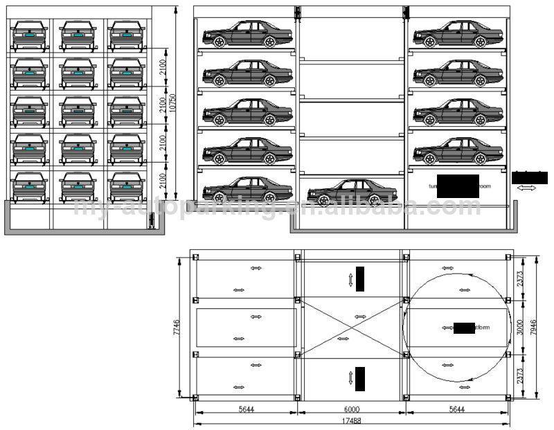plc control car parking system garage parking system underground parking garage design