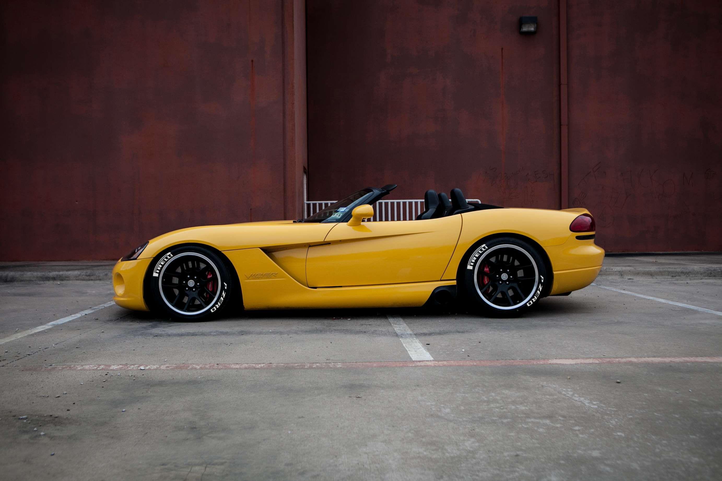 Car Dodge Viper Sports Car Viper Yellow Car Yellow Dodge