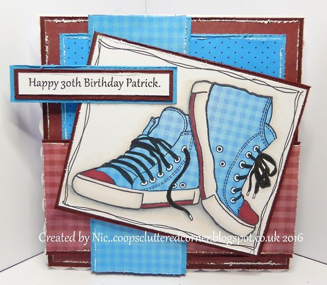 Woodware Sneakers Coops Cluttered Corner Kids Cards Inspirational Cards Boy Cards
