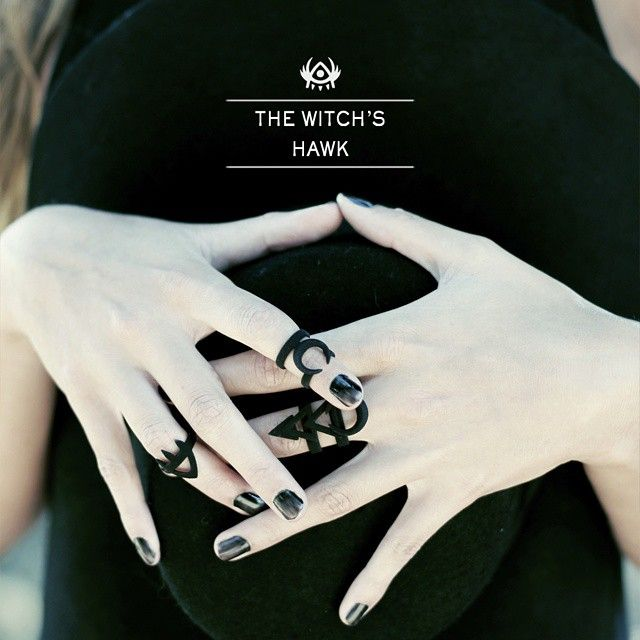 rogueandwolf We start with teasing your appetite with some black midi rings from our new AW15 collection:  The Witch's Hawk   Runes, moons and the occult just for you.