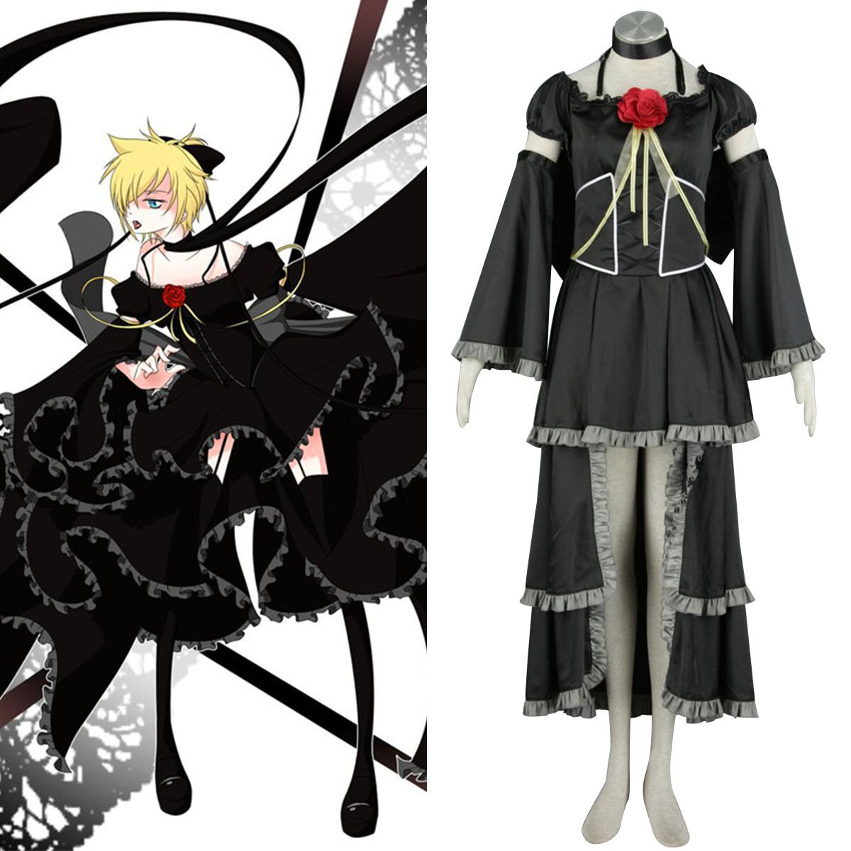 Deluxe Vocaloid Kagamine Rin & Len 5TH Cosplay Costumes
