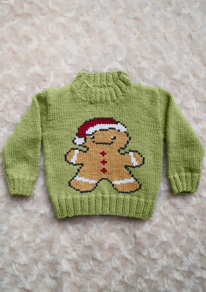 Intarsia - Gingerbread Man Chart - Childrens Sweater #children'ssweaters
