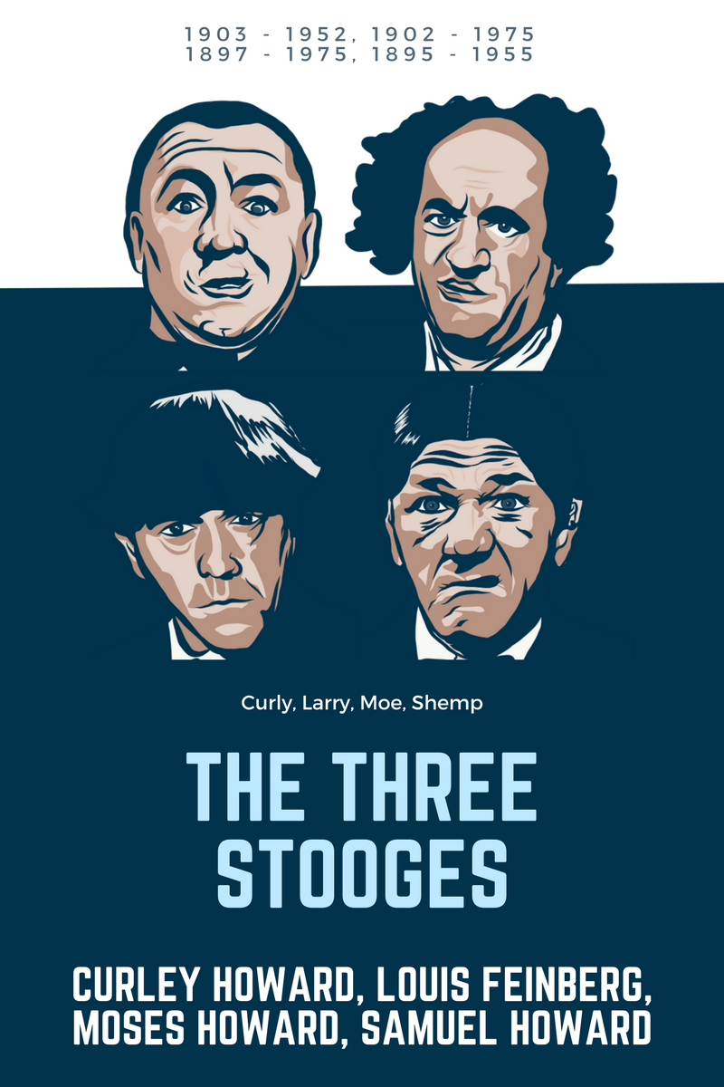 Tres Chiflados Three Stooges Moe Larry Curly Shemp The Three Stooges Art Larry