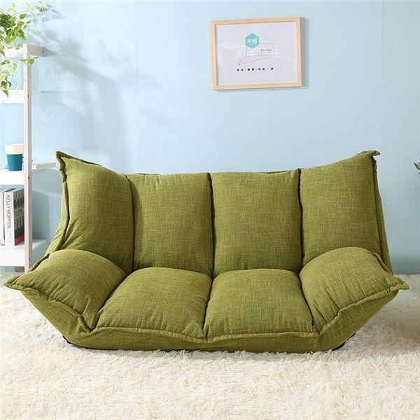 36e0bee168ec Floor Sofa Bed 5 Position Adjustable Sofa Plaid Japanese Style Furniture  Reclining Folding Sofa