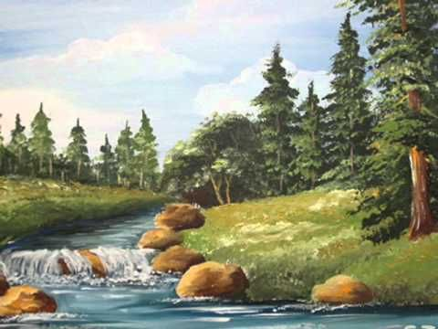 Painting tutorial introduction first of series on how for Landscape paintings for beginners