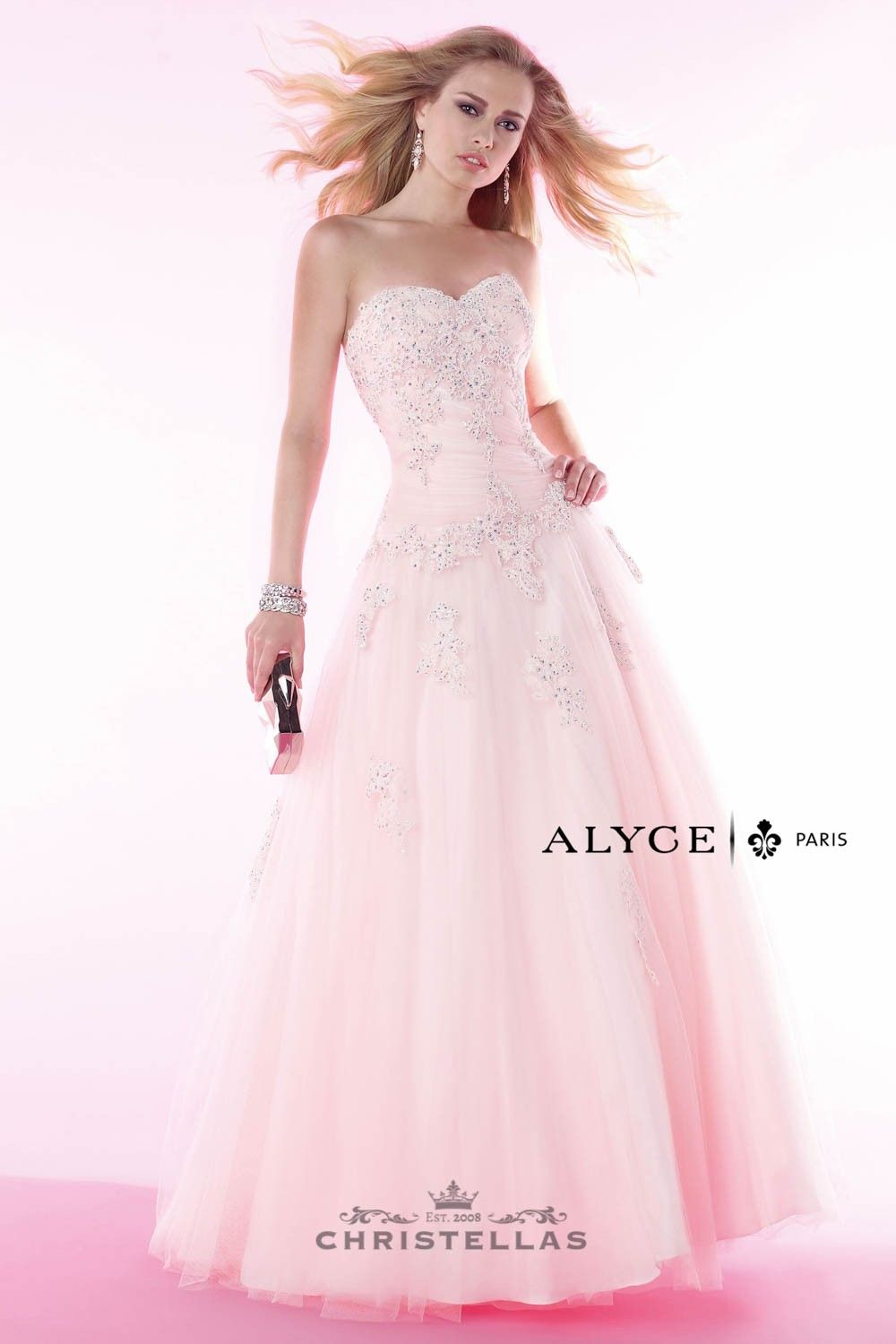Go princess diva in this gorgeous drop waist A-line ball gown! Alyce 6379 Dress Paris Collection / $450 - shop the look at www.christellas.com #prom #dresses #Alyce
