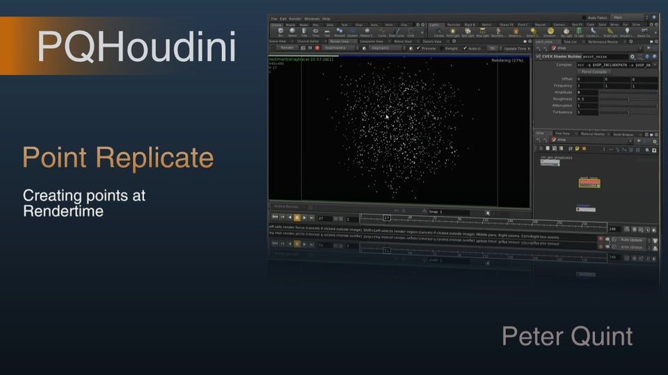 Point Replicate on Vimeo | Houdini Sidefx