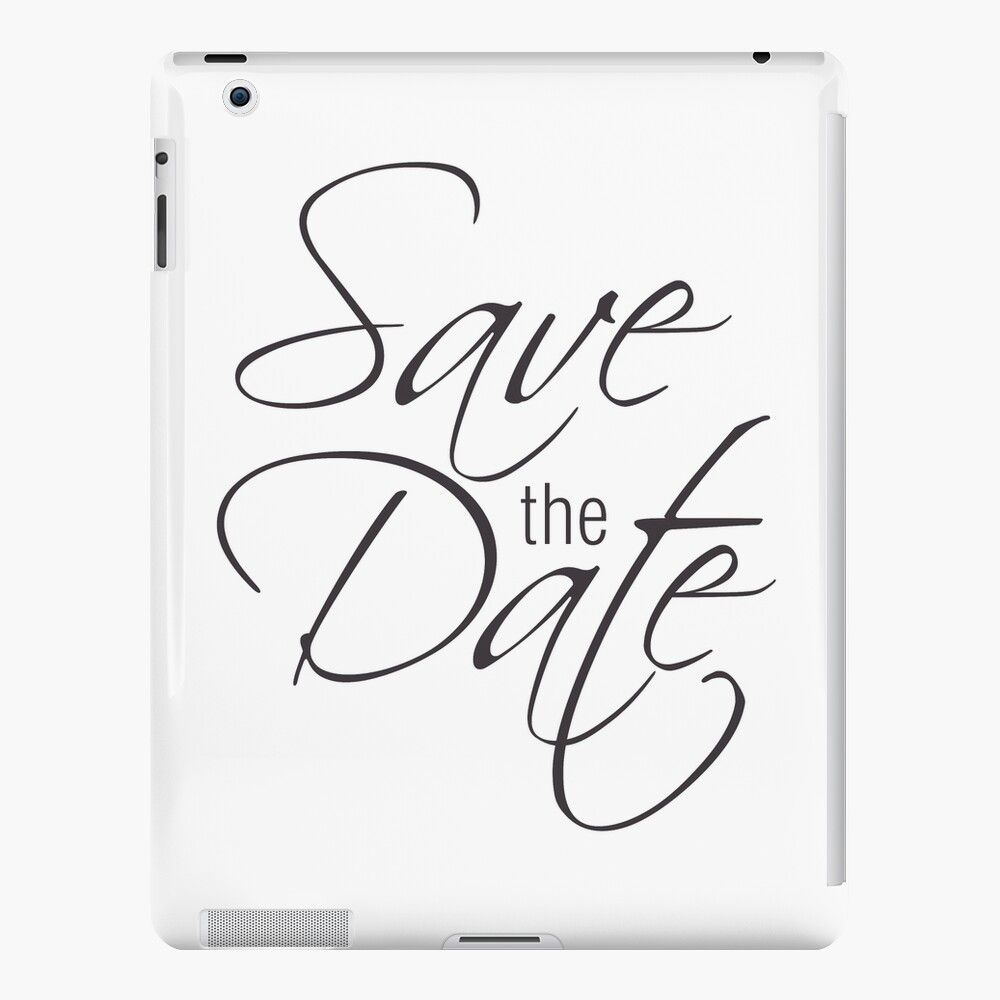 Save the date iPad Case & Skin