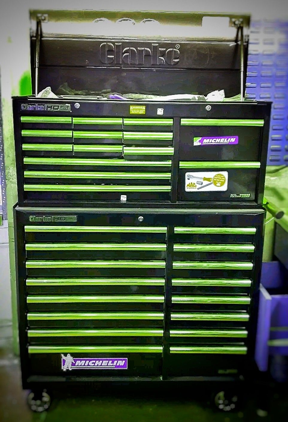 Clarke Hd Tool Chest Roll Cab Wood Crafting Tools Tool Chest Craft Tools