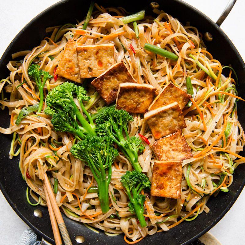 Tofu Stir Fry Noodles Recipe With Dried Plum Sauce Vegan Recipe Stir Fry Noodles Plum Sauce Tofu Stir Fry