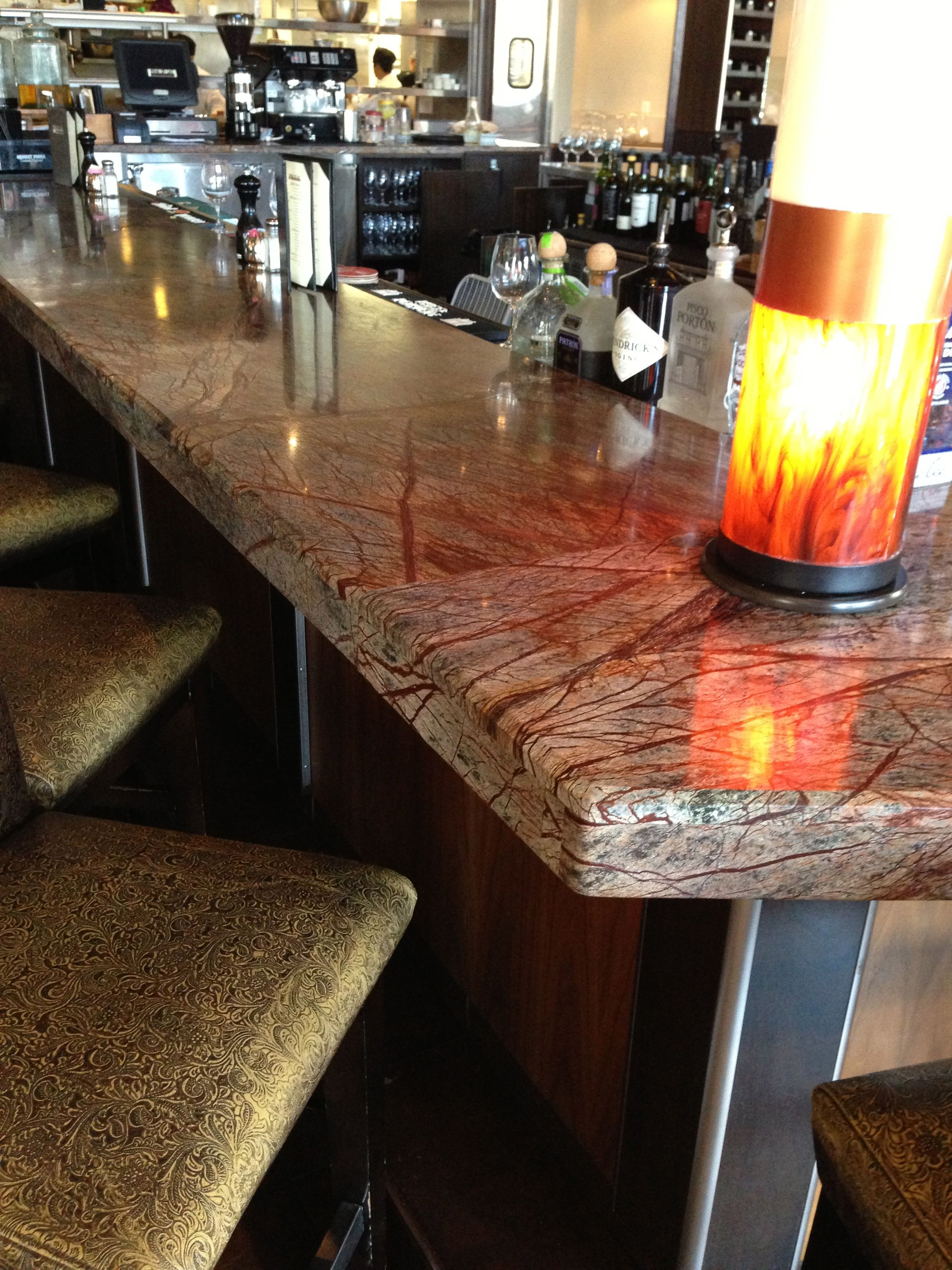 Here Is A Beautiful Rainforest Brown Marble Bar Counter Bedrosians Stocks This Exquisite Stone Marble Bar Rustic Dining Table Countertops