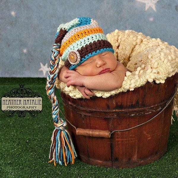Sombrero+de+duende+rayas+sombrero+del+bebé+niño+por+AnnabelleKnits ...