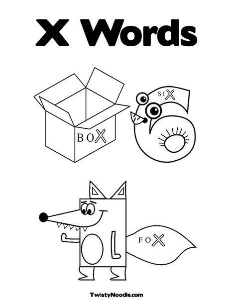 X Coloring Page From Twistynoodle Com Coloring Pages Cool Coloring Pages Blog Colors