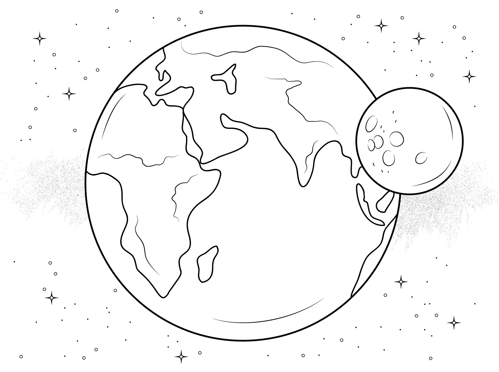 Eclipse Coloring Pages Universe Themes