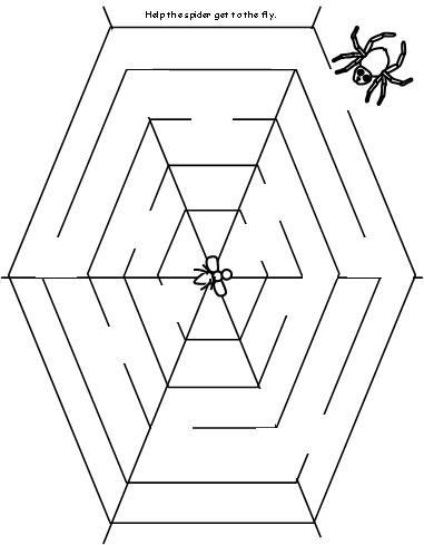 Maze for The Very Busy Spider | Halloween Activities for Kids ...