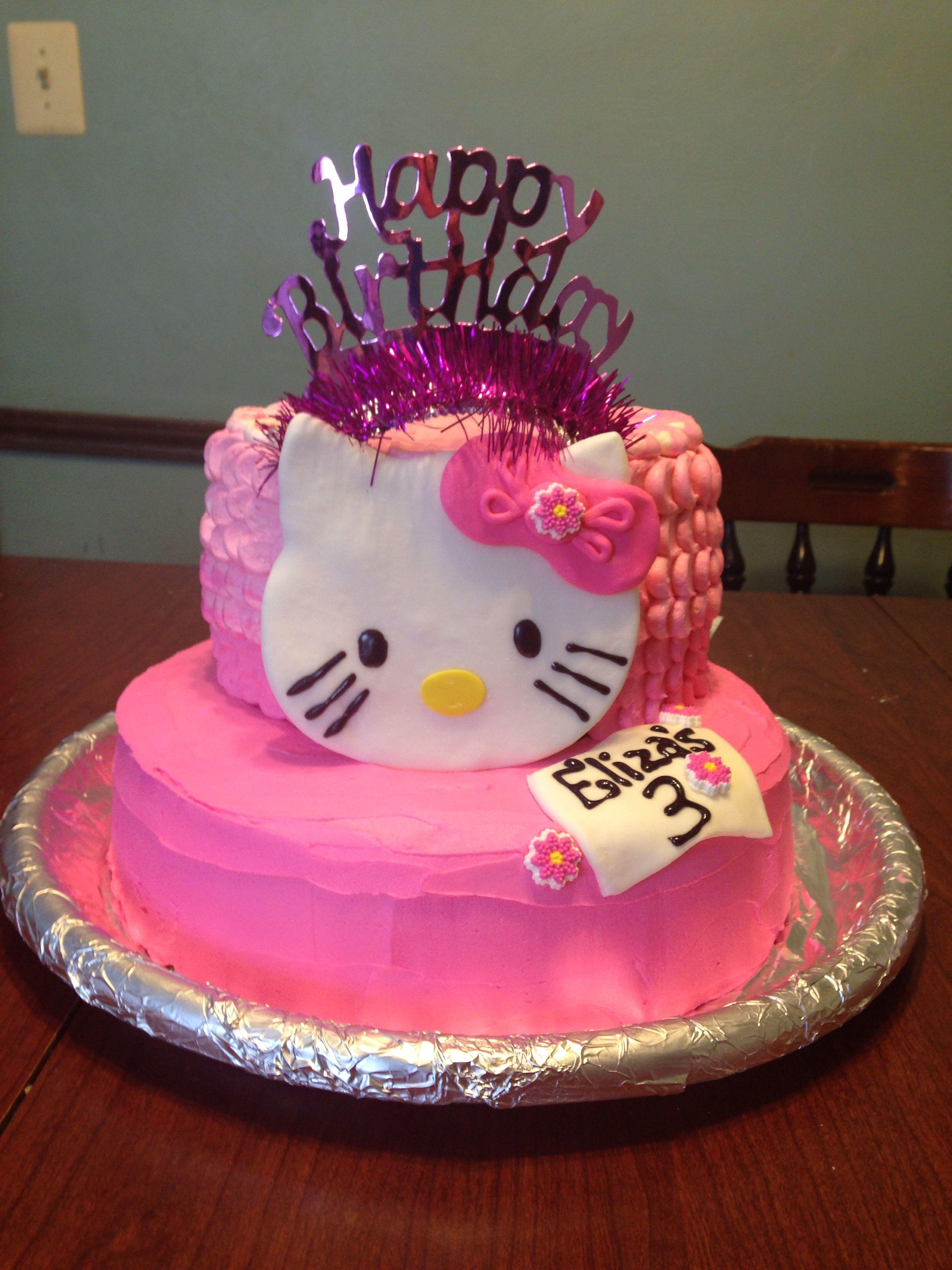 Princess Hello Kitty Cake | Cat cake, Cake, Cupcake cakes