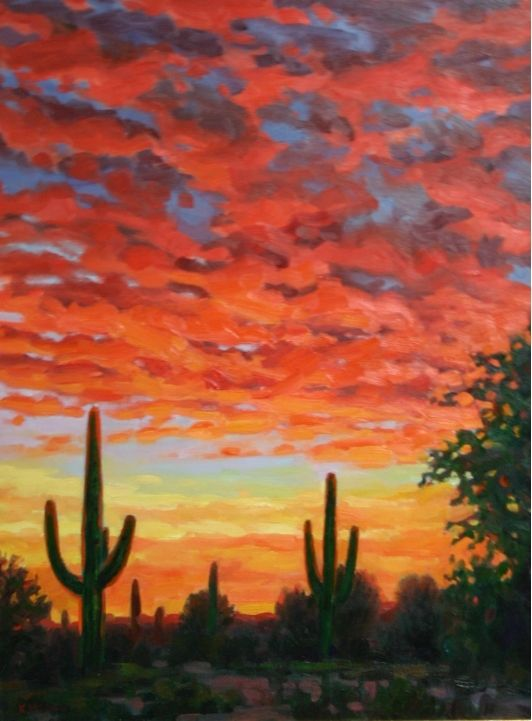 Giclee Canvas Print Western Impressionistic Arizona