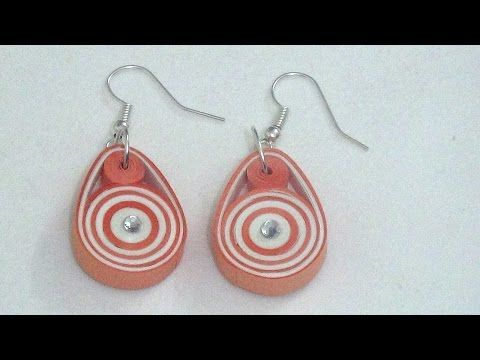 Easy & Trendy Paper Quilling Earring Making Tutorial - YouTube