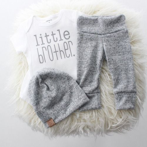 Photo of Little Brother Take Home Outfit | Shop Baby Boutique Outfits That Are Handmade in the USA at SugarBabies!